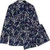 Equipment Lillian Printed Washed-silk Pajama Set - Petrol