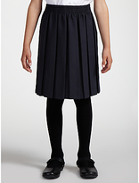 John Lewis Girls' Pleated School Skirt, Navy