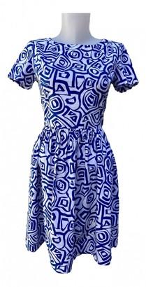 Oscar de la Renta Blue Cotton - elasthane Dress for Women