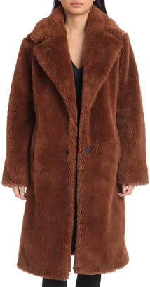AVEC LES FILLES Teddy Faux-Fur Coat