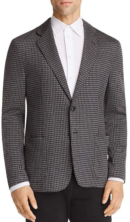 Emporio Armani Houndstooth Pattern Regular Fit Sport Coat