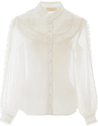Zimmermann Butterfly Embroidered Shirt