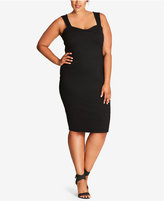City Chic Trendy Plus Size Cutout-Back Bodycon Dress