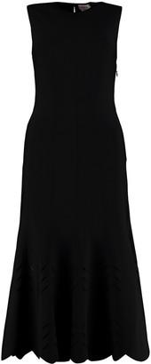 Alexander McQueen Cut-out Detail Knit Dress