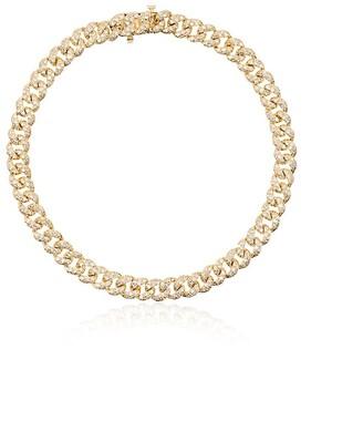 Shay 18kt Yellow Gold Chain-Link Diamond 7.5 Inch Bracelet