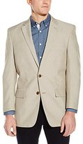 Haggar Men's Linen Like Classic Fit 2-Button Center Vent Sport Coat