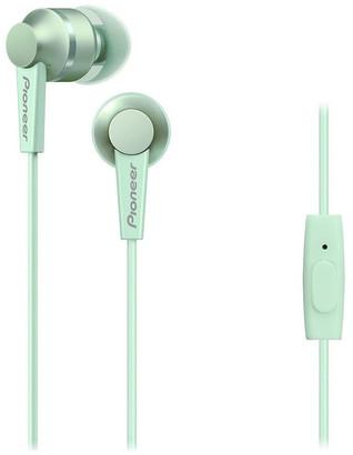 Pioneer SE-C3T-GR In Ear Bud Headphones W/ Mic - Green