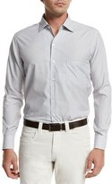 Loro Piana André Aster Check Sport Shirt, Fancy White/Mustard