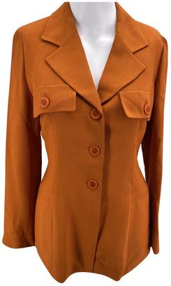 Celine Orange Viscose Jackets