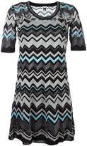 M Missoni zig zag pattern dress - women - Cotton/Polyamide/Polyester/Metallic Fibre - 40