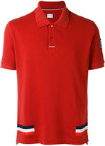 Moncler Gamme Bleu tri-stripe polo shirt - men - Cotton - S