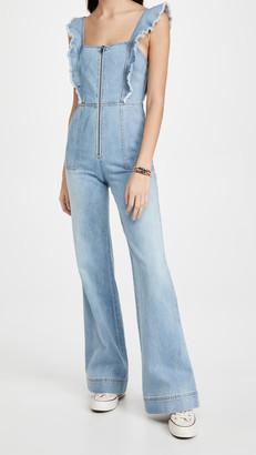 Alice + Olivia Jeans Gorgeous Open Back Jumpsuit