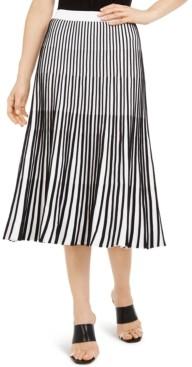 Escada Striped Knit Midi Skirt