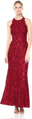 JS Collections Women's Halter Lace Gown