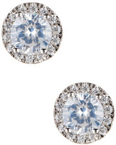 Nordstrom Rack Round Pave Trim CZ Stud Earrings