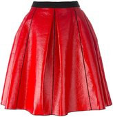 Marc Jacobs pleather circle skirt - women - Silk/Cotton/Polyurethane - 6