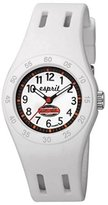 Esprit Girls Quartz Watch with White Dial Analogue Display and Gold Plastic Fun Racer