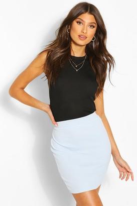 boohoo Basic Pastel Crepe Micro Mini Skirt