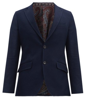 Etro Single-breasted Cotton Blazer - Navy