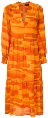 Andrea Marques silk V-neck dress