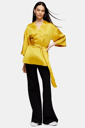 Topshop Chartreuse Shell Blouse
