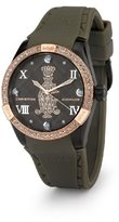 Christian Audigier Unisex INT-313 Intensity Black Argyle Ion-Plating Rose Gold Watch