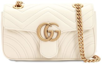 Gucci Mini Gg Marmont 2.0 Leather Shoulder Bag