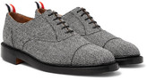 Thom Browne Cap-Toe Herringbone Shetland Wool Oxford Shoes