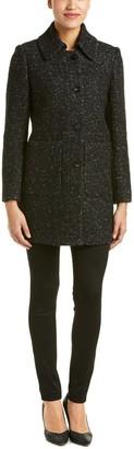 Elie Tahari Women's Stella Boucle Topper Wool Coat