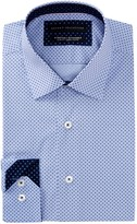 Report Collection Box Print Slim Fit Dress Shirt