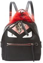 Fendi Bag Bug Fox Fur & Snakeskin Backpack