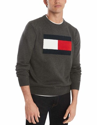 Tommy Hilfiger Men's Cotton Crew Neck Flag Sweater