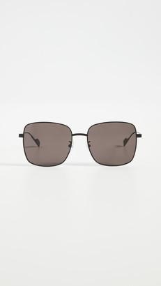 Balenciaga Ghost Oversized Metal Square Sunglasses