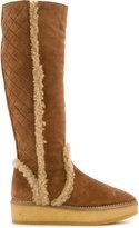 Castaner knee high textured boots