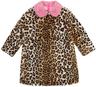 MonnaLisa Leopard-print faux-fur coat