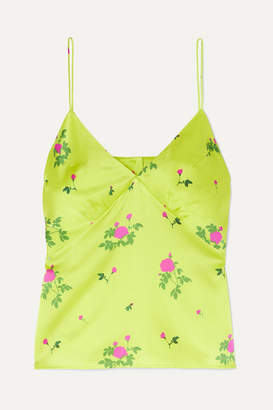 Bernadette BERNADETTE - Floral-print Silk-satin Camisole - Yellow