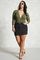 Forever 21 FOREVER 21+ Plus Size Distressed Skirt