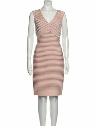 Calvin Klein Striped Knee-Length Dress Pink Striped Knee-Length Dress