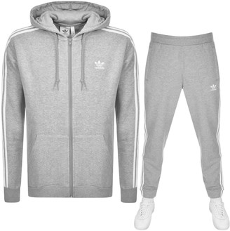 adidas 3 Stripes Tracksuit Grey