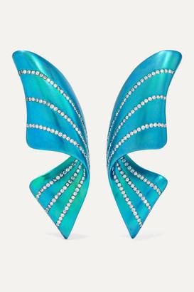 G BY GLENN SPIRO Ribbon Titanium Diamond Earrings - Blue