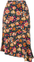 Vanessa Bruno floral pleated skirt