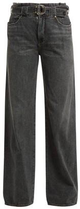 Atelier Jean Cinch Paperbag-waist Jeans - Womens - Grey