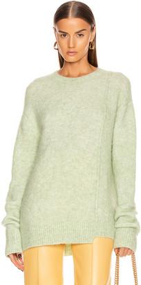 Acne Studios Kerna Alpaca Sweater in Pistachio Green   FWRD