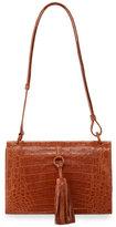 Nancy Gonzalez Tassel Medium Crocodile Shoulder Bag