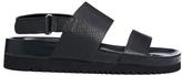 Senso Iggy Black Footbed Flat Sandals