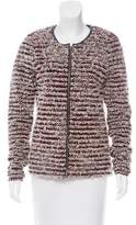 Maison Scotch Bouclé Fringe Jacket