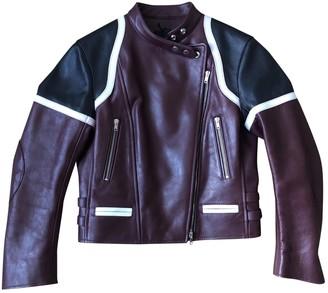 Isabel Marant Burgundy Leather Leather Jacket for Women