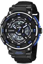 Calypso Men's Quartz Watch with LCD Dial Analogue Digital Display and Black Plastic Strap K5673/5