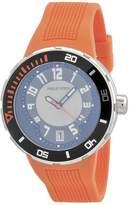 Philip Stein Teslar Men's 34-BRG-RO Extreme Orange Rubber Strap Watch