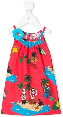 Dolce & Gabbana Hawaiian Print Dress